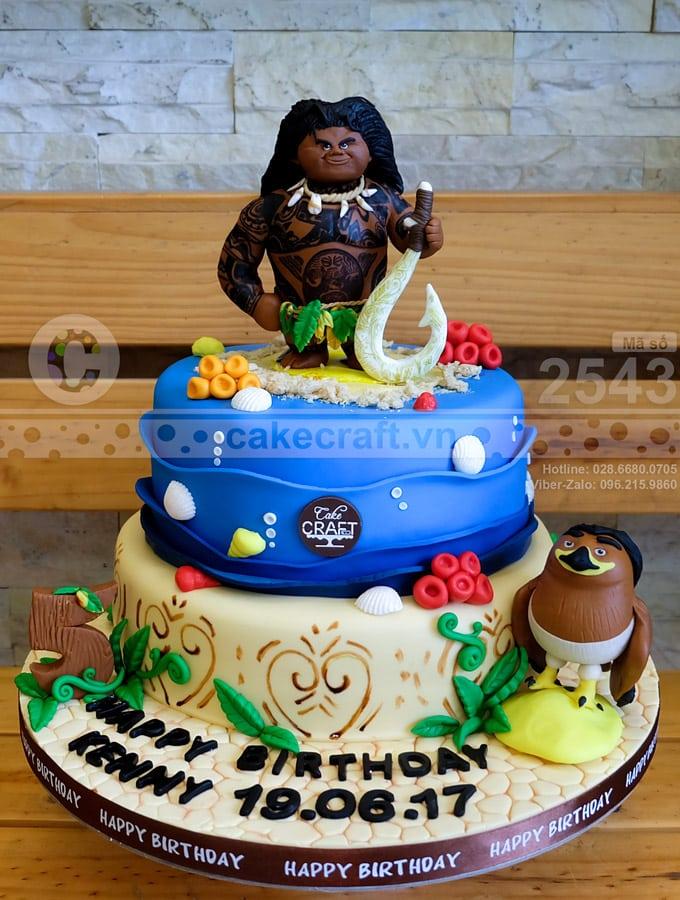 Bánh kem sinh nhật này được làm theo yêu cầu cho bé trai thích phim hoạt hình Moana