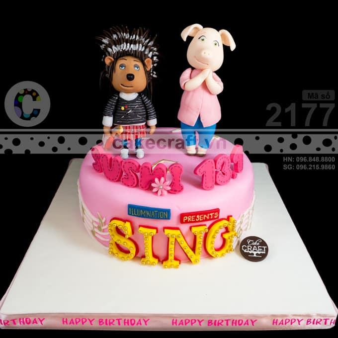 Bánh kem được làm theo yêu cầu riêng - chủ đề phim hoạt hình SING !