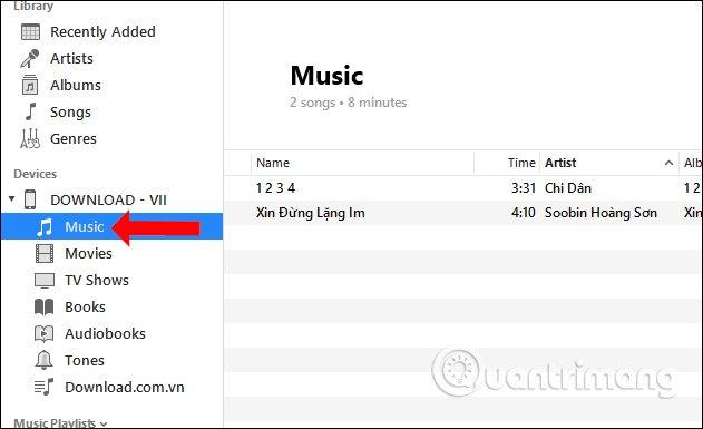 Phần Music trên iPhone