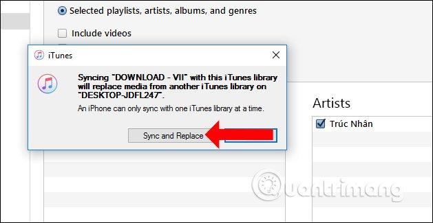 Chuyển nhạc từ iTunes sang PC