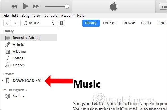 Tên iPhone trên iTunes
