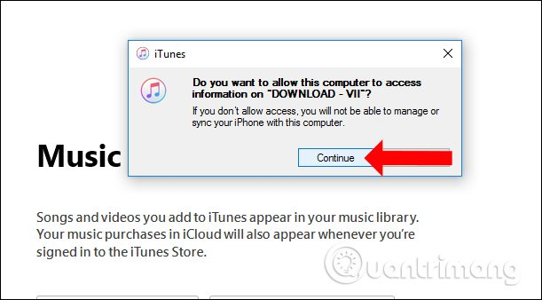 Máy tính truy cập dữ liệu iPhone