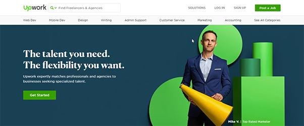 Upwork là website tuyển dụng chuyên dành cho dự án quốc tế