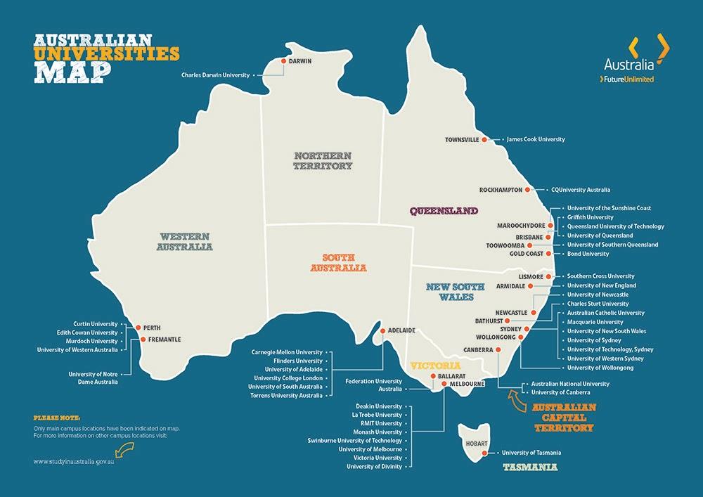 danh sách các trường Đại học tại Úc