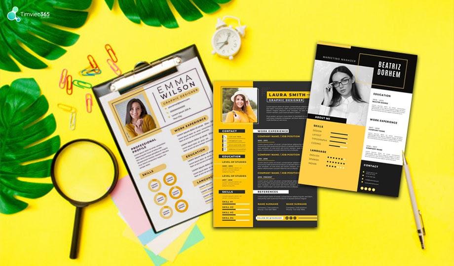 Những mẫu CV xin việc tại timviec365.com.vn đa dạng các ngành nghề