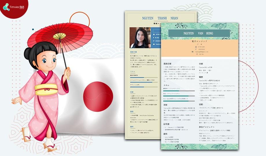 Sở hữu ngay những mẫu CV tiếng Nhật chuyên nghiệp